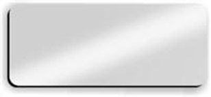 Blank Smooth Plastic Name Tag: Shiny Silver and Black - LM922-334