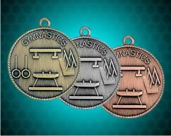 1 1/2 Inch Gymnastics Die Cast Medal