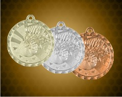 2 inch Basketball Bright Medals