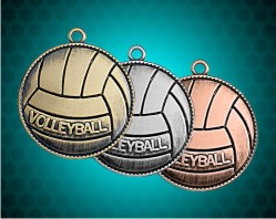 1 1/2 Inch Volleyball Die Cast Medal