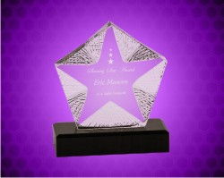 Crystal Textured Star Award