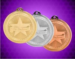 2 Inch Star Performer Laserable Britelaser Medals