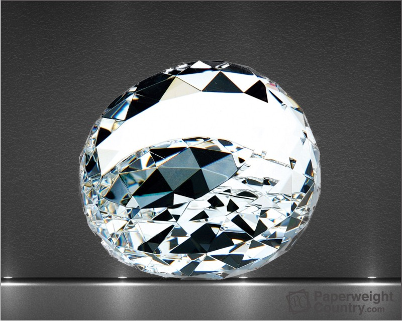 2 x 3 x 3 Inch Clear Gem Optic Crystal Paperweight