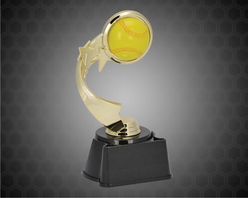 "7"" Softball Ribbon Star Trophy"