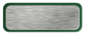 Blank Brushed Silver Nametag with a Green Metal Border
