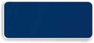 Blank Smooth Plastic Name Tag: Patriot Blue and White - LM922-552
