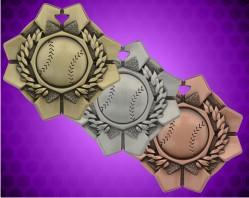 2 Inch Baseball Imperial Medal
