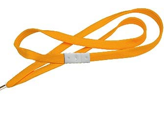 Orange Flat Woven Break-Away Lanyard