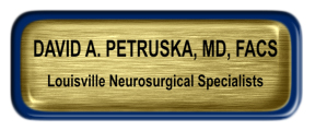 Metal Name Tag: Brushed Gold with Epoxy and Blue Metal Border