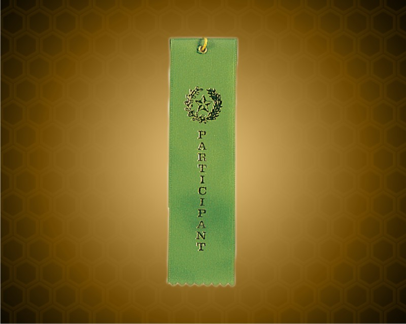 Green Participant Carded Ribbon